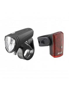 Lampset AXA Greenline 15LUX StVZO USB Fram- och Baklampa