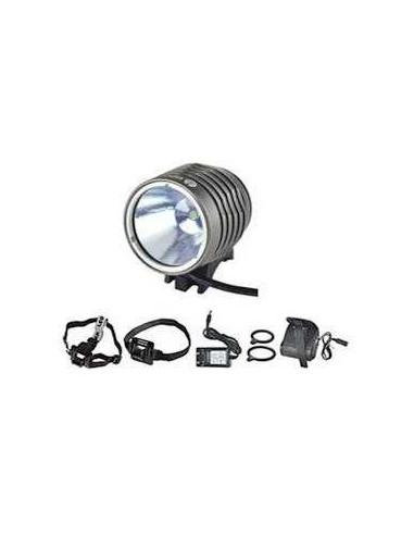 Multisportslampa Cavo 1000 Lumen, inkl. alla typer av fästen grå
