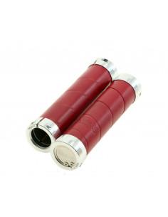 Handtag Brooks alu/läder rödbrun 130mm