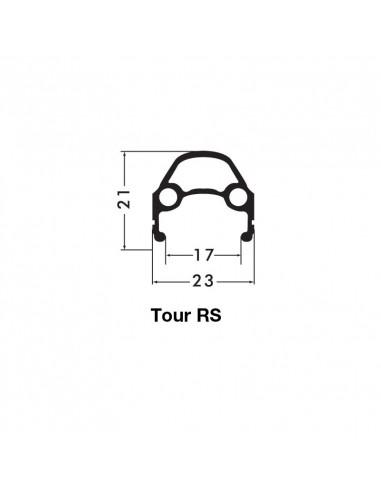 FRAMHJUL 28 (622) SKIVBR. TOUR RS SVART/SILVER