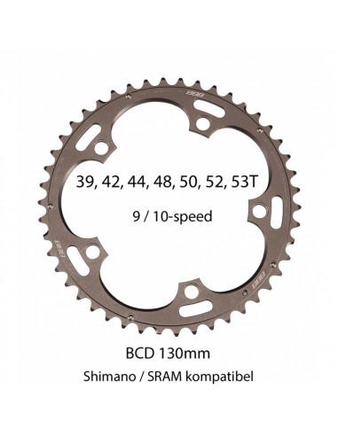 Framdrev RoadGear Shimano/SRAM, BBB BCR-11S 9-10V 5H 130mm 50T Grey