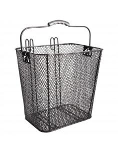Cykelkorg för pakethållare, Spectra sidohängd 33x24x32cm svart