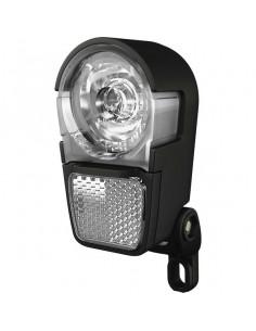 Framlampa, Herrmans H-ike LED diod, inkl batterier svart