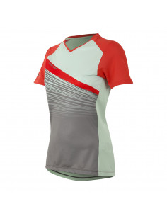 Tröja Launch MTB Dam SS, poppy red/mist green fract M