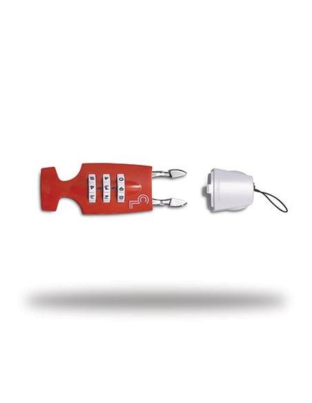 Lazer Cappuccino Lock, vit/röd