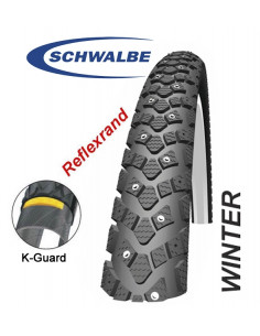 Däck Schwalbe Winter 28, 30-622, 700x30C, 118 dubbar