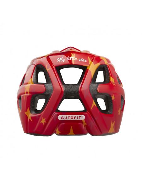 Lazer hjälm PNut MIPS röd stars +net 46-50cm