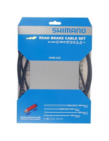 Bromsvajer set, Shimano Racer DA9000svart, polymer-belagda vajrar