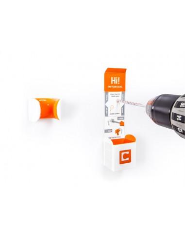 Cykelhållare Hornit Clug Vit/Svart för 23-32mm däck