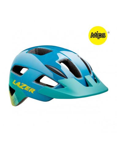 Hjälm Lazer Gekko MIPS grönt spänne blå gul