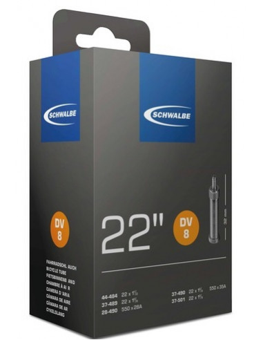 Cykelslang Schwalbe 22 DV 44-484, 37-489, 28-490, 37-490, 37-501mm